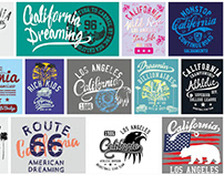 California Embroidery graphic design vector art