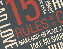 15 Rules of a Chef