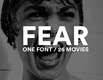 FEAR : One Font, 26 Movies Titles