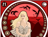 A la manière de : Art Nouveau / Daenerys Targaryen