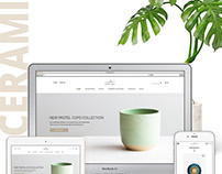 Pottery e-shop concept.