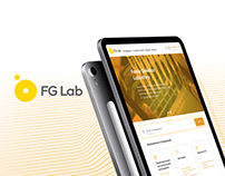 FG Lab mobile and web design