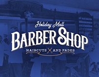 HOLIDAY MALL BARBERSHOP | LOGO DESIGN