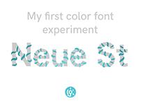 Color Font Experiment