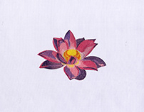 Pink and Purple Flower Design Embroidery Design