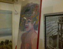 Medusa boy oil on canvas