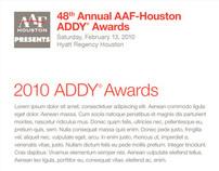 Houston ADDYS 2010 website