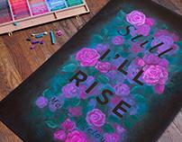 Maya Angelou Chalkboard
