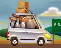 Beagle Jack on the road