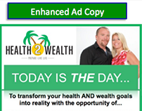 Health2Wealth Magazine Ad Copy Enhancement