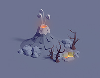 Paper volcanic assets