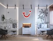 Дизайн небольшого офиса туристической компании.