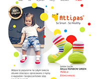 Attipas - emailing for Riccardo fashion web site