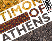 Timon of Athens poster for the Public Theater