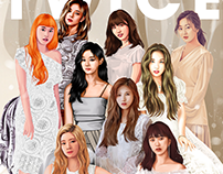 Twice x Marie Claire (FanArt Collab)