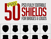 Freebie: Vector Shield For Logos