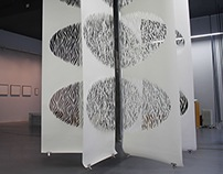 Resonance, Papercut Installation and Display Font
