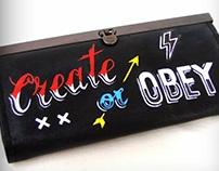 CREATE OR OBEY Clutch Purse