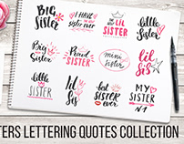 Sisters Lettering Quotes Collection
