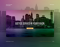 Attorney Landing Page Concept