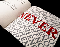 Book/Typography Design- In the Name of Love