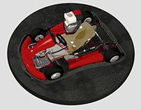 go-kart 3D model / 3D модель карта