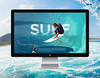 Landing page about surfing...