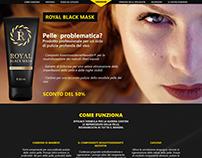 Landing page for Royal Black Mask
