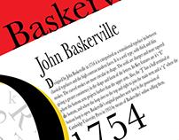 Baskerville Typography Poster
