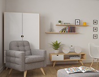 small apartment visualisation