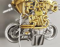 Harley Davidson - Heart & Balls
