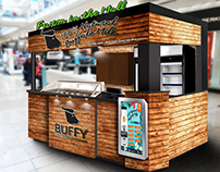 Design & Concept for Booth/Outlet for Buffy