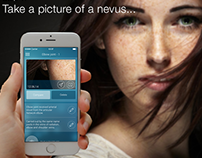 App for healthcare. Passport of skin