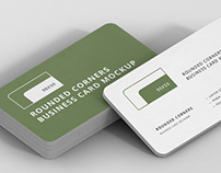 Business Card Mockup Stack 90x50 Round Corners