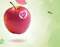 Pink Lady Apples. Digital & print.
