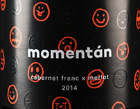 Momentán wine label design / 2016