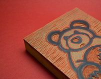 Valentine's Woodcut Cards