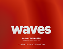 Waves Minimal Abstract Flyer Set
