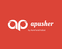 Advertising Push Notification - Logo Design - (apusher)