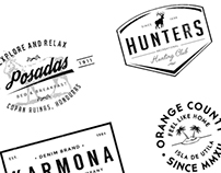 Freebie: 6 elegant logos for branding