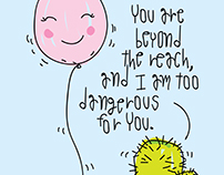Cactus and balloon love