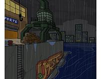 Rainy Harbour