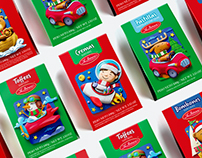Chocolates La Ibérica, empaques Navidad