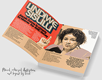 Political editorial illustration and layout
