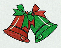 JINGLING CHRISTMAS BELLS EMBROIDERY DESIGN