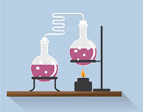 Chemical labaratory vector clip art