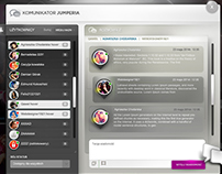 chat application design for jumperia portal