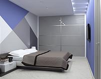 Визуализация дизайн проекта 2-х комнатной квартиры.