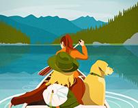 Taking the dog canoeing