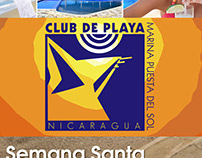 Club de Playa, Nicaragua logo and ad layout